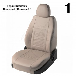 Авточехлы Экокожа для Hyundai Solaris Седан